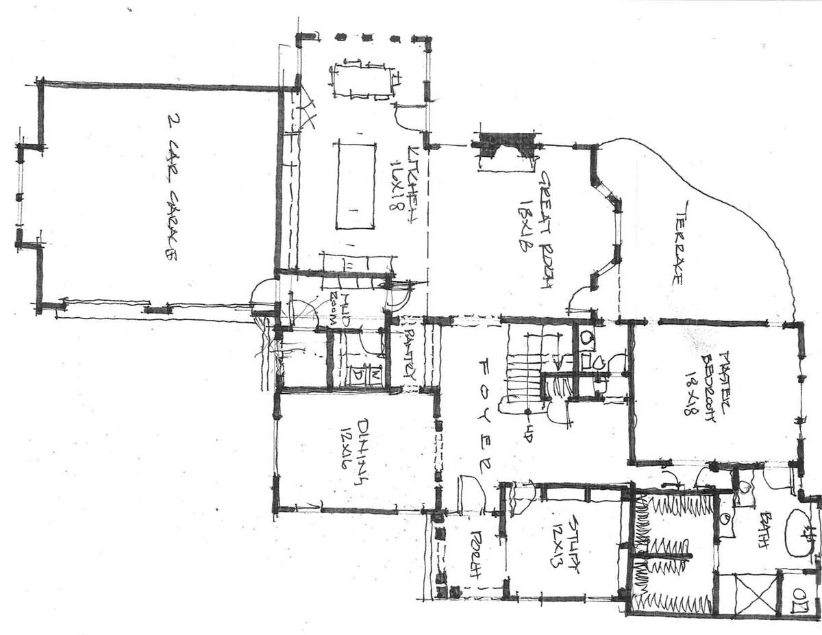 Lot 6 1st Level Floor Plan